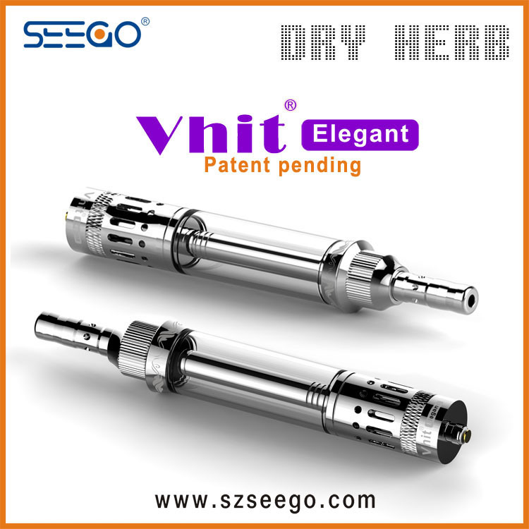 Unique Healthy Seego Vhit Elegant Dry Herb E Cigarette with Double Filtration System