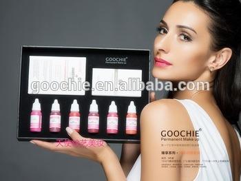 Goochie Best Tattoo Ink Permanent Makeup Pigment Kit for Lip