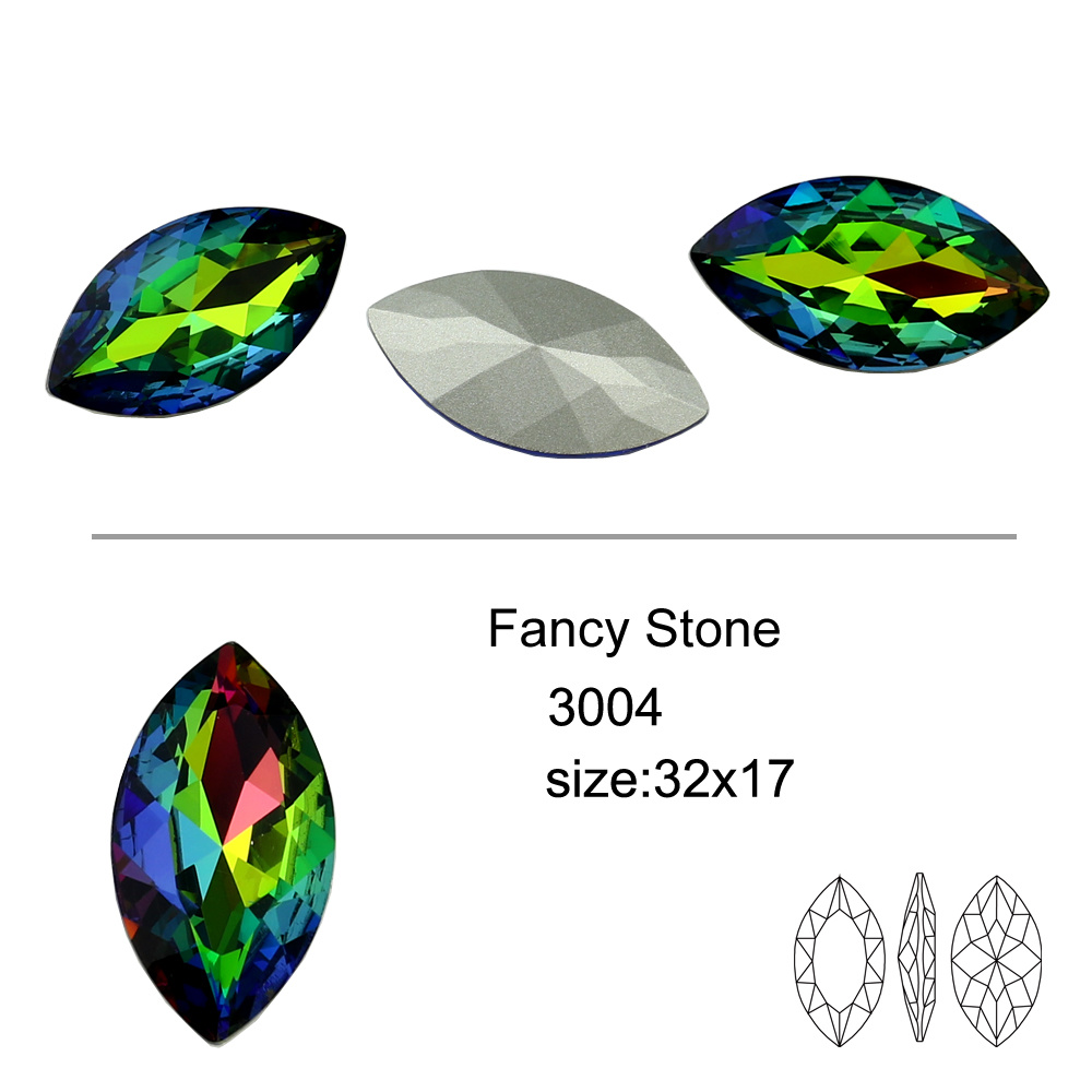 Pointed Back Crystal Fancy Pendant and Gemstone for Jewelry Accessories