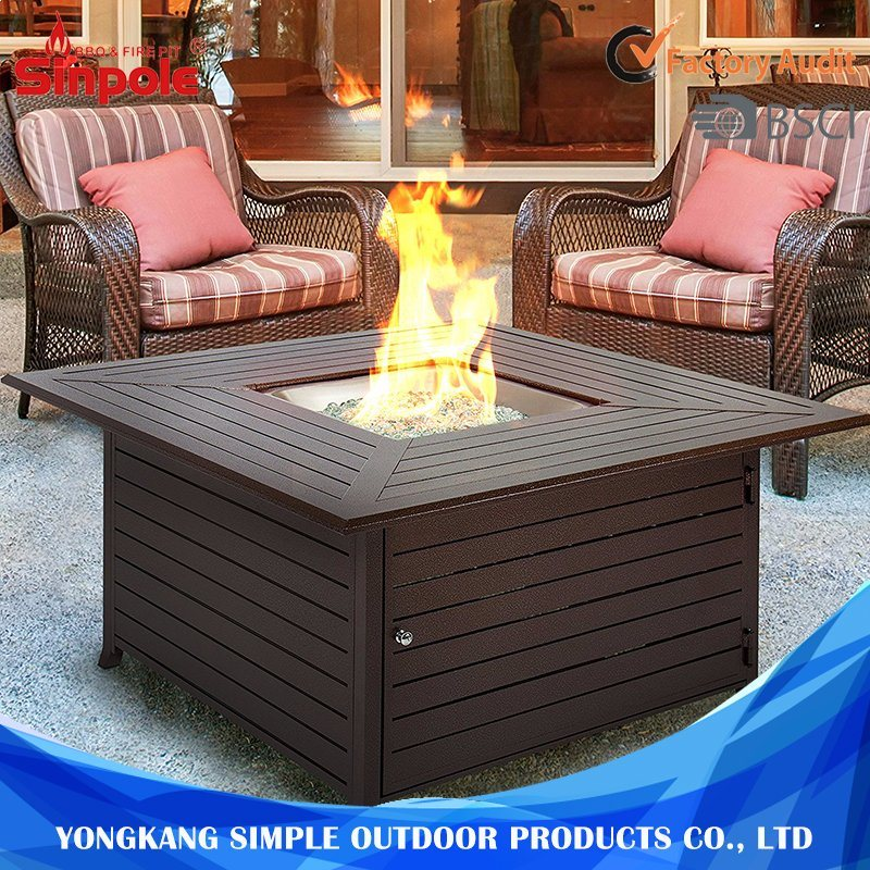 Most Fashion Aluminum Gas Outdoor BBQ Fire Pit with Cover