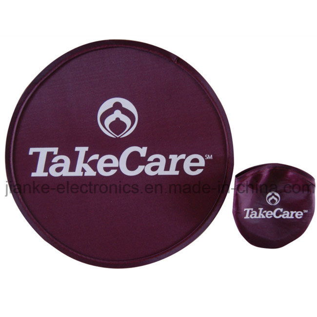 Promotional T190 Foldable Nylon Frisbee with Logo Printing (3488)