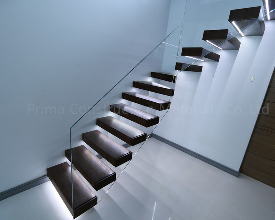 Modern Floating Staircase Kit Hidden Stringer Glass Stair Steps Stairs   Floating  Stair Kits.Spiral