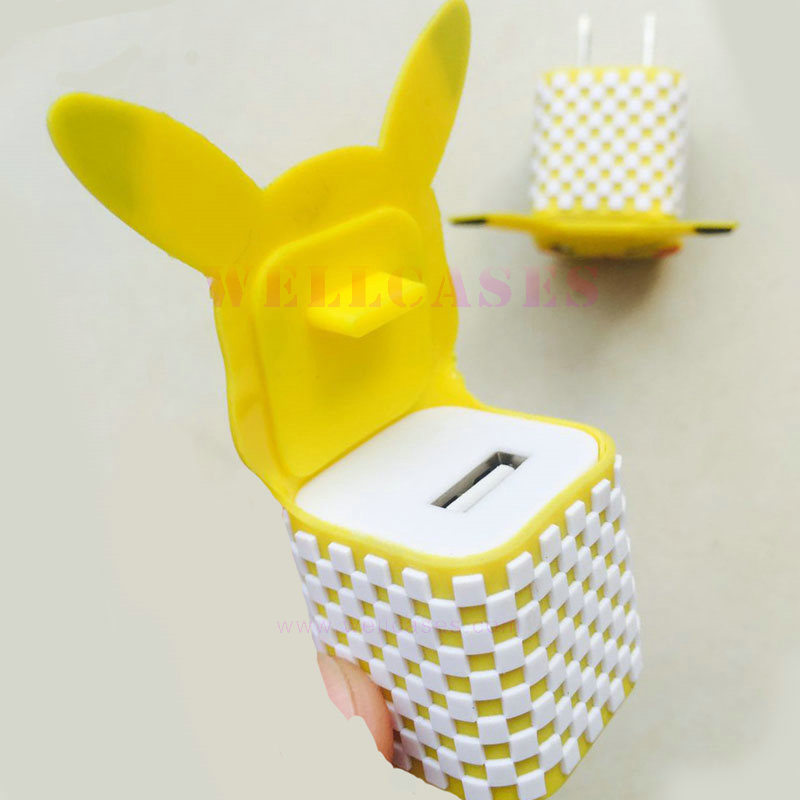 Universal Pokemon Go Pikachu Carton USB Travel Charging/Charger Head