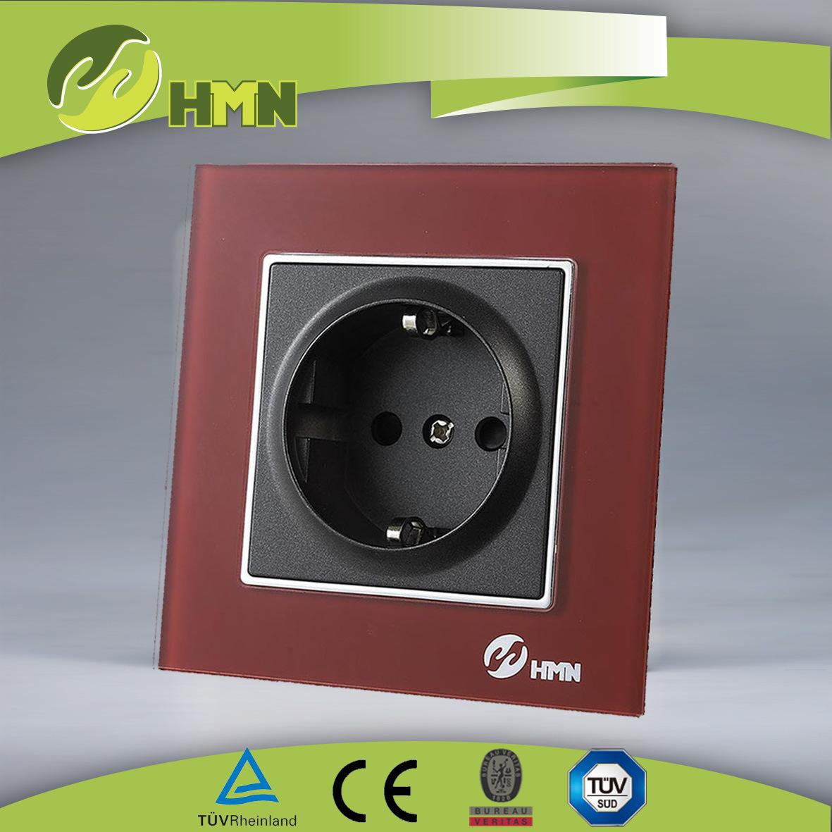 TUV Certified EU Standard New Red Toughened Glass Socket Manufacturer