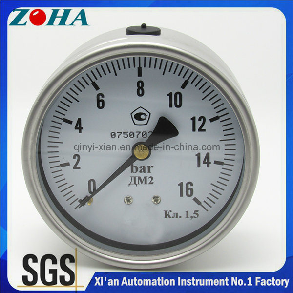 Half Ss Manometer with Eccentric Back Connection