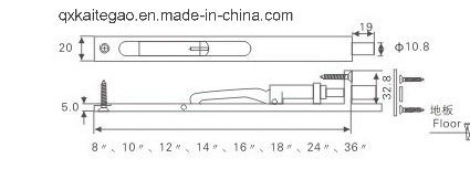 Door Hardware Flush Bolt with Competitive Price (KTG-203)