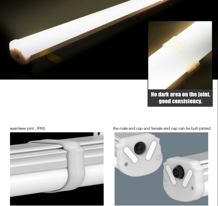 0.6m 1.2m 1.5m Commercial Lighting, Tri-Proof IP65 Waterproof LED Tube Light