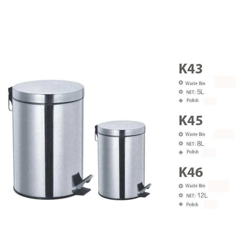 High Quality Stainless Steel Bathroom Hardware Waste Bin