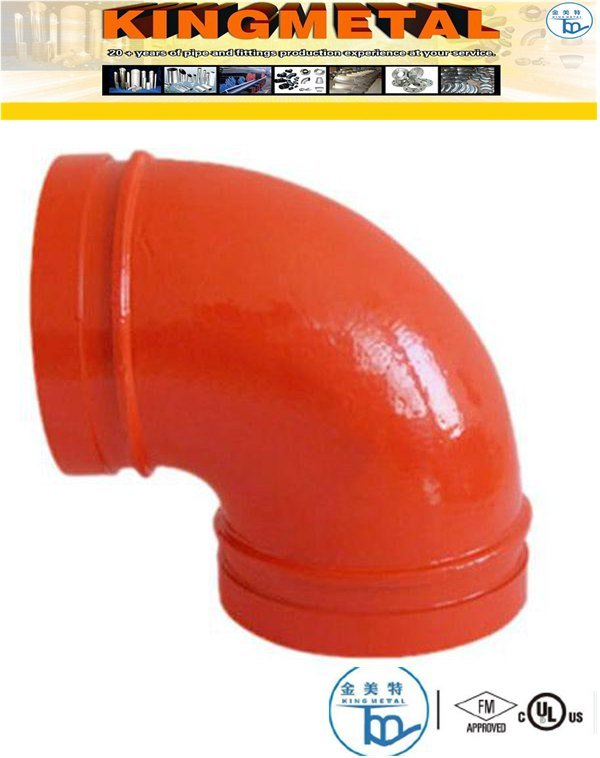 300 Psi 4inch Ductile Iron 90 Degree Grooved Fittings Elbow