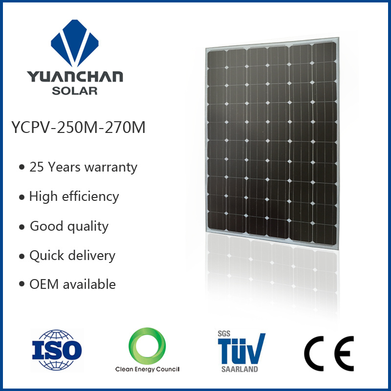 High Quality Efficiency Factory Sale Price Ycpv Solar Panel (250W-M)