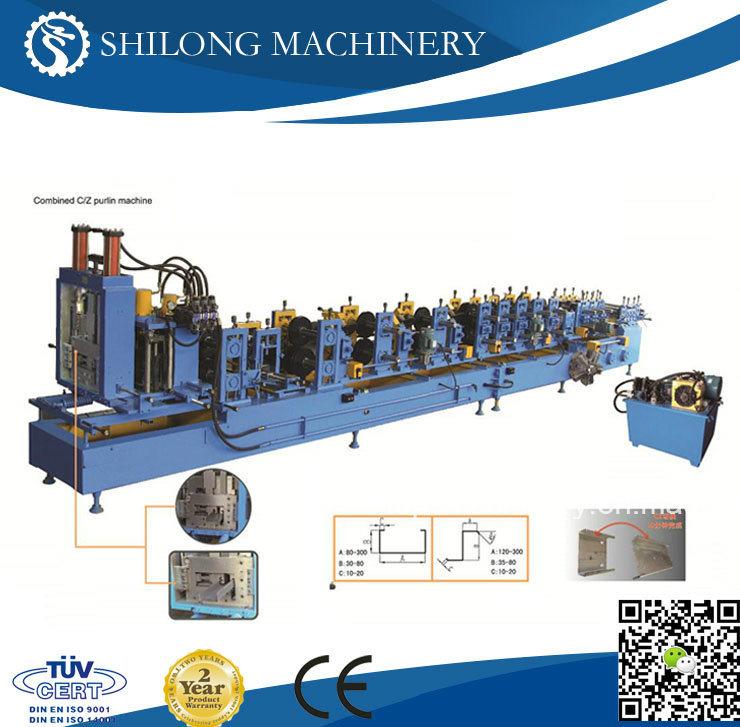 C & Z Purlin Interchangeable Roll Forming Machine