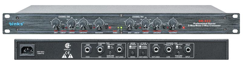 Sr-223 Stereo 2-Way/Mono 3-Way Professional Audio Crossover