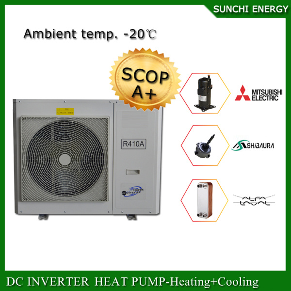Poland -25c Snow Winter Floor Heating100~300sq Meter Room 12kw/19kw/35kw, R407c, 380V Evi Split Best China Heat Pump Cost
