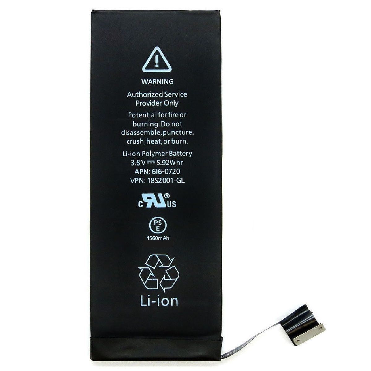 1560mAh Li-ion Internal Battery for iPhone 5s 5c