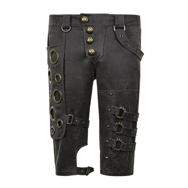 K-242 Spring Unique Designs Black Rock Gothic Slim Men Shorts