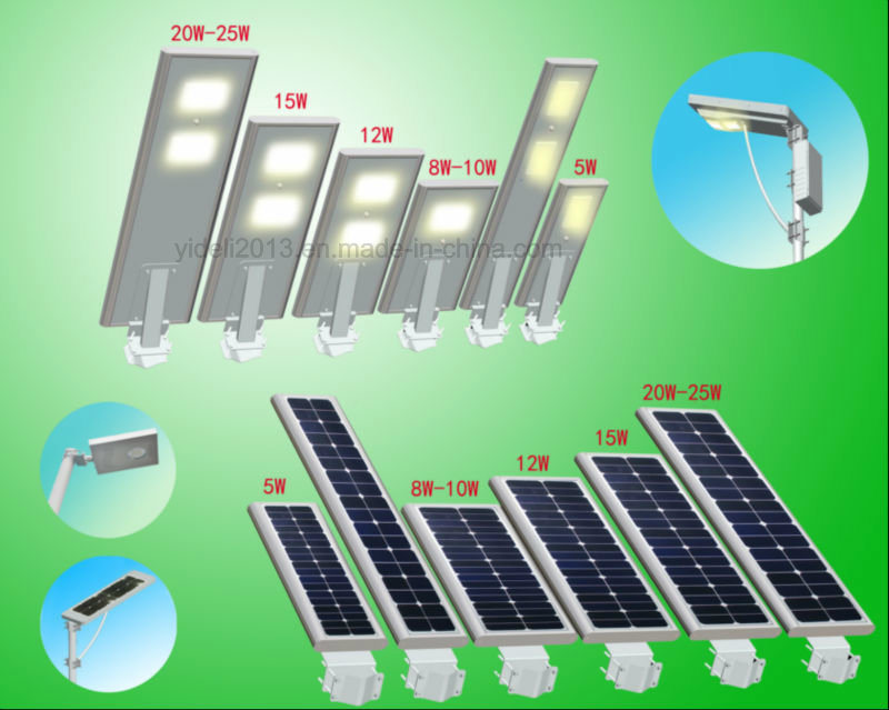 2017 New Product Outdoor IP65 Waterproof Road Lamp 150lm/W Integrated All in One Solar LED Street Light