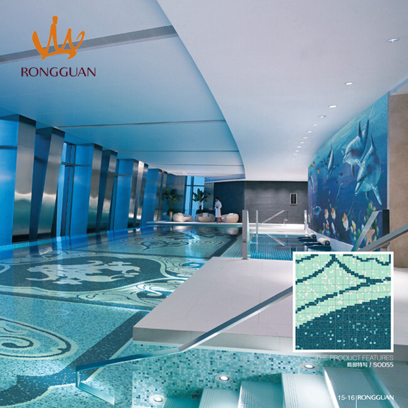 Mosaic Glass Mosaic Glass Tile Swimming Pool Tile (SOD55)