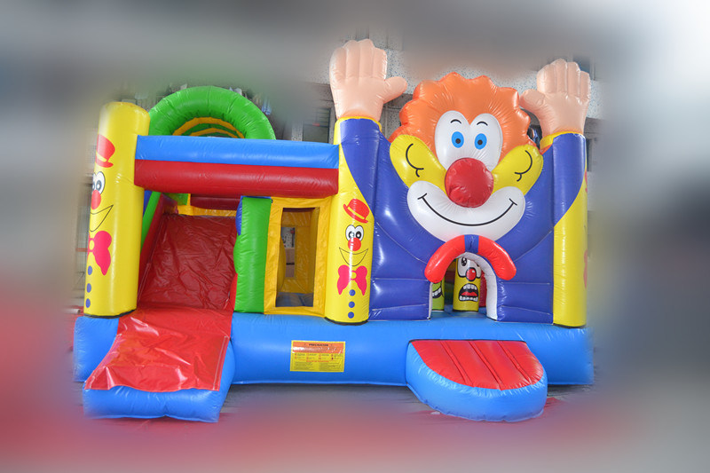 Clown Inflatable Bouncer with Slide Combo (chb445)