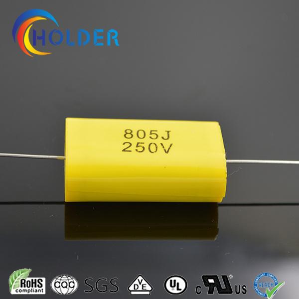 Axial Lead Type Metallized Ployester Film Capacitor (CBB20 805/250)