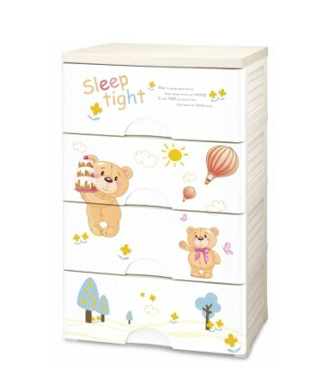 New Product 3 Layers Colorful Plastic Cabinet