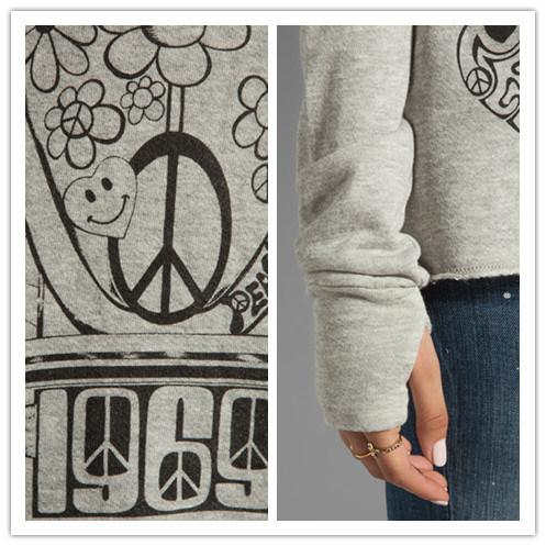 Lady′s Fashion Knitted Crewneck Sweatshirt / Sweater with Thumbhole Design
