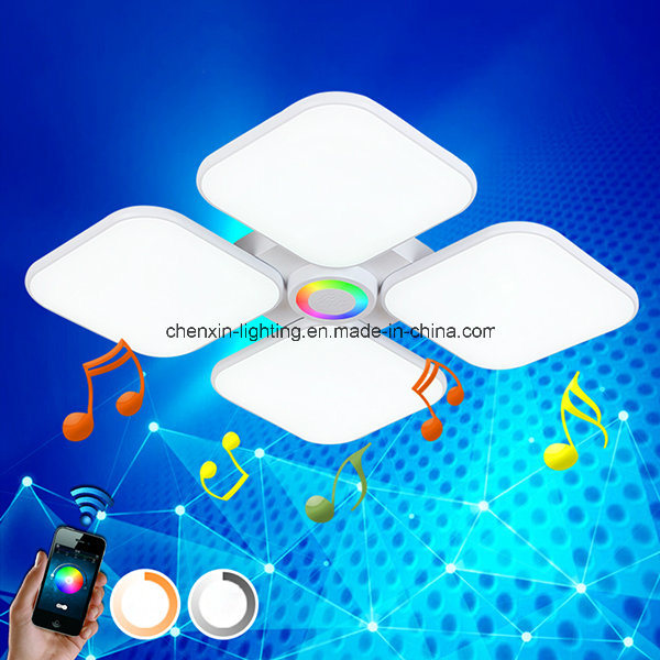 LED Smart Version Ceiling Light with Bluetooth Speaker Mobile Control