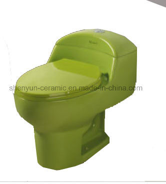 Ceramic One-Piece Toilet Siphonic Flushing S-Trap Popular Style (A-010)