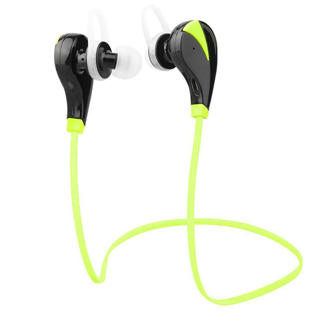 Bluetooth Headphones, Bluetooth Headset Noise Cancelling Headphones with Microphone Running, Sports, Gym Sweatproof Wireless Earphones for iPhone 6, 6 Plus, 6s,
