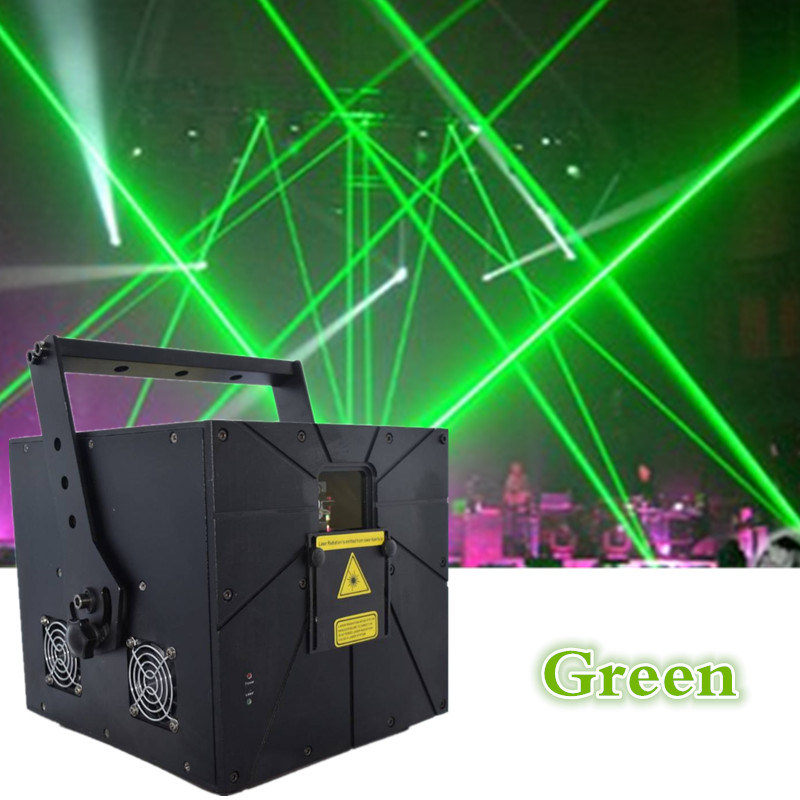 DMX 512 RGB Powerful Green Laser Sound Activated 90VAC - 250VAC / 300va