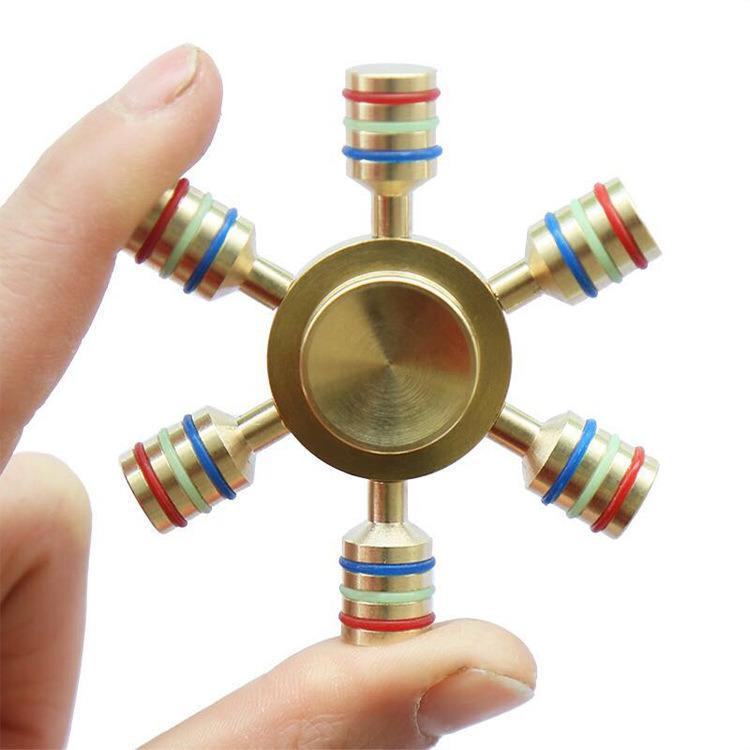 Metal Spinner Copper Spinner Hand Spinner Six Metal Spinner