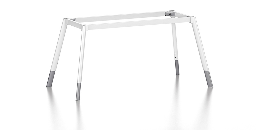 White Customized Metal Steel Office Staff Desk Leg with Ht77-1