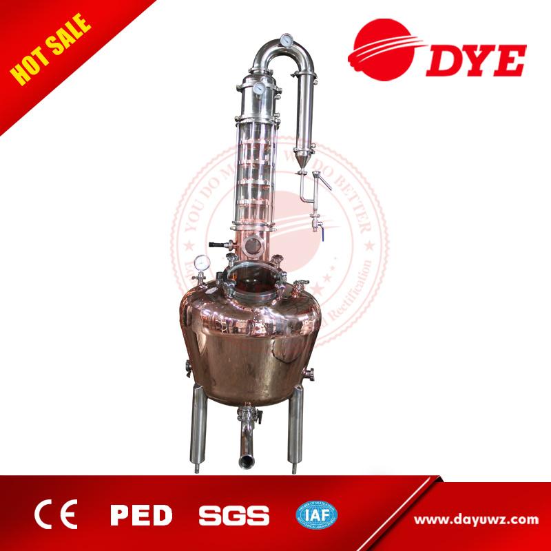 200L 500L 1000L Red Copper Alcohol Vodka Pot Still Distiller