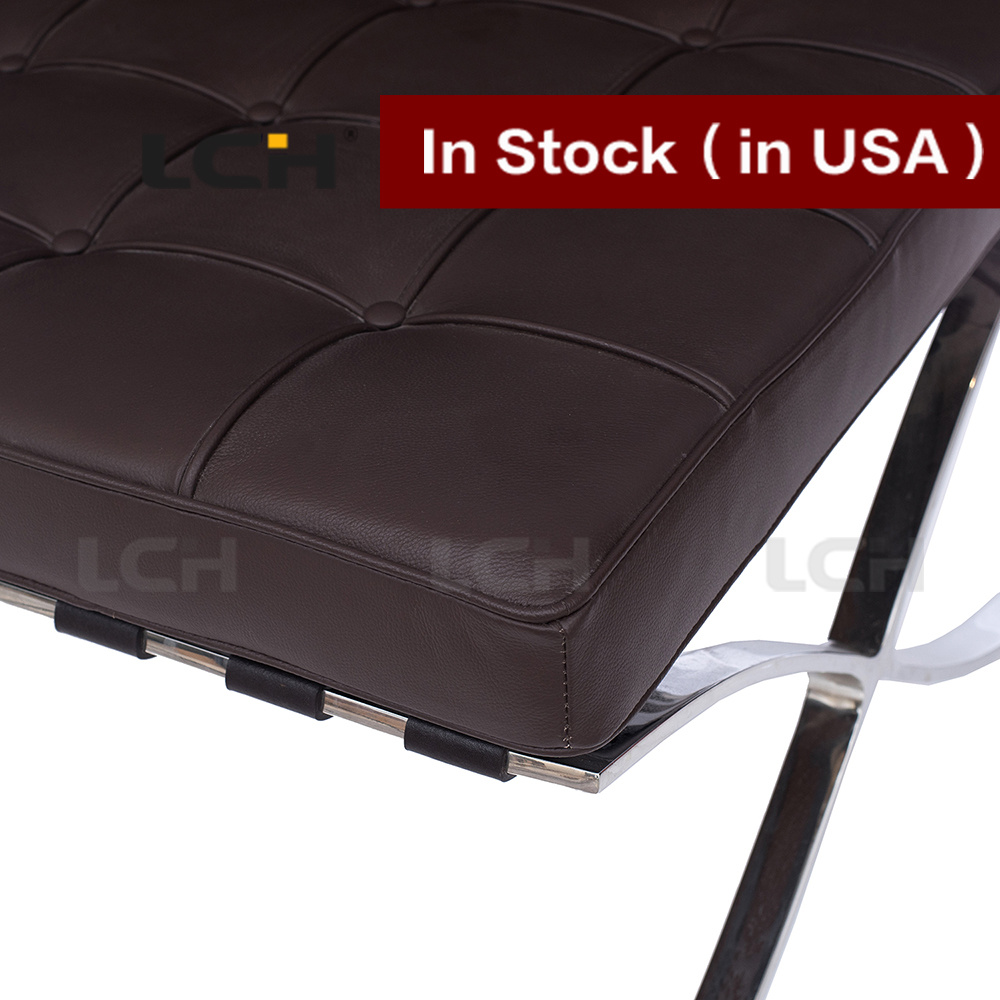 Leisure Furniture Modern Chair Barcelona Ottoman in Stock