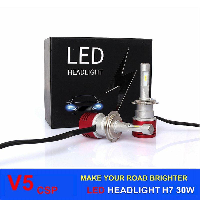 Auto Lighting LED Headlight Car Kit H7 60W 24V 8400lm V5 Auto LED Headlight H11 H1 H3 9005 9006 6000k