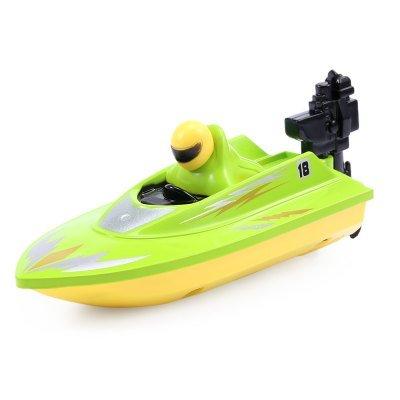 147958A-2.4G 2CH 1-10 Scale Mini RC Boat - Green