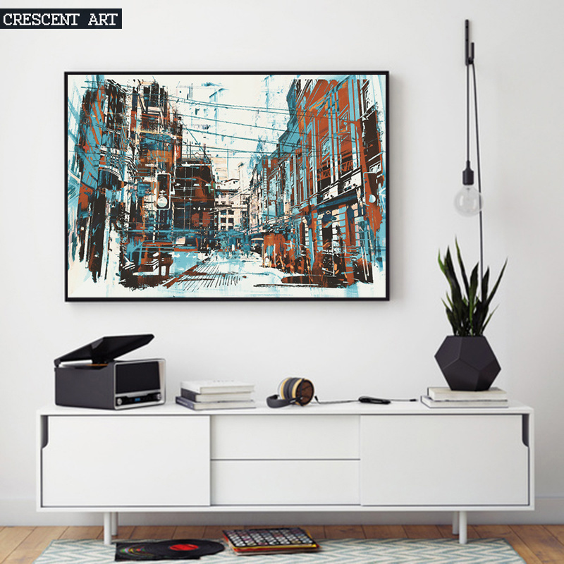 Architecture Decoration Abstract Canvas Print