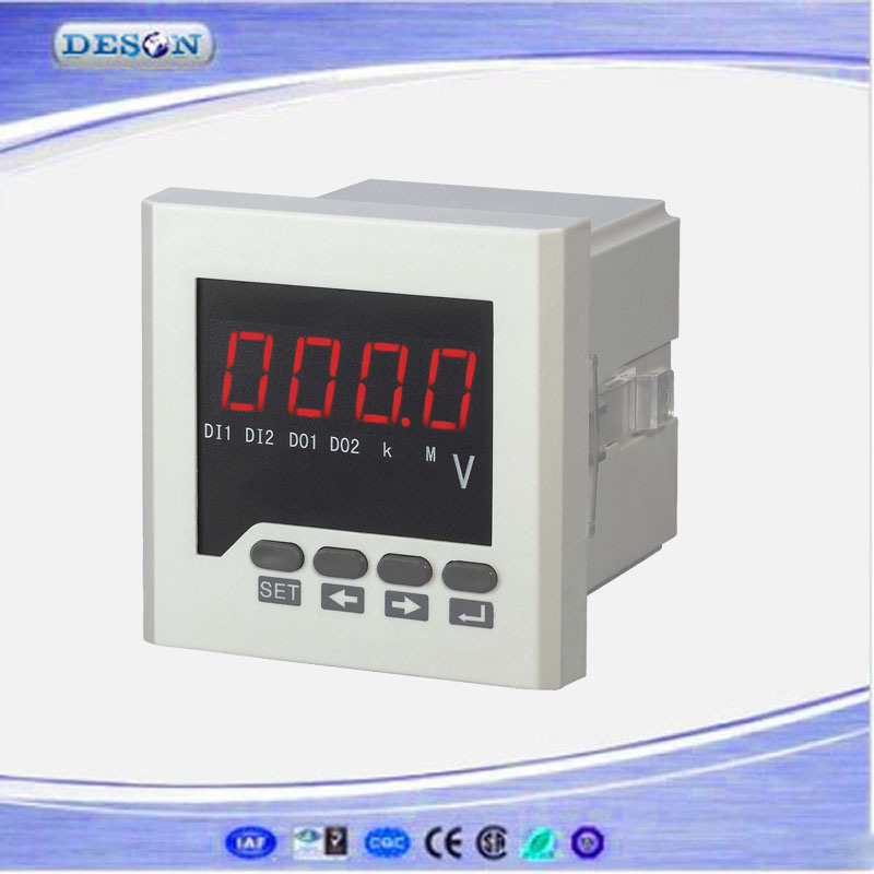 Panel Mounted Single Phase Electronic AC/DC Voltmeter