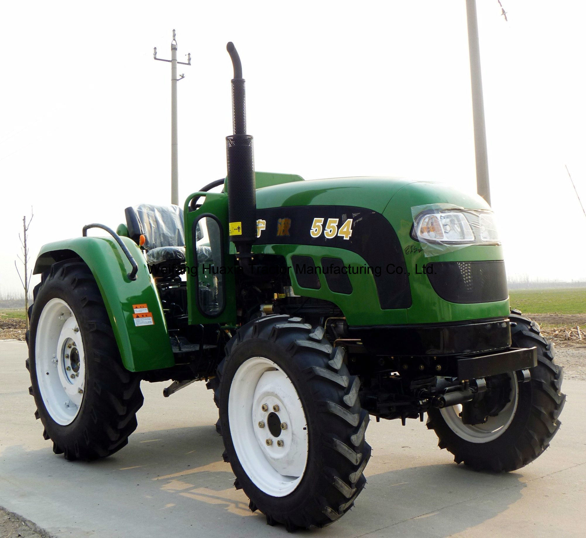 55HP Foton Lovol Four Wheel Agriculture Tractor with Ce