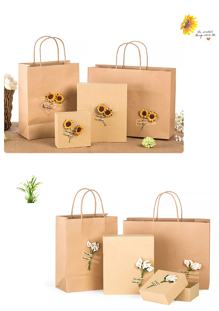 Custom Kraft Paper Bag Custom Gift Paper Bag Printing