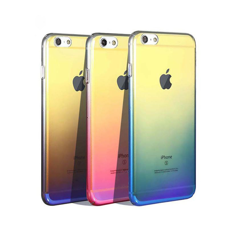 New Fashion Electroplating Gradient Color Creative Cell Phone Case for iPhone 7/iPhone 7 Plus (XSPC-004)