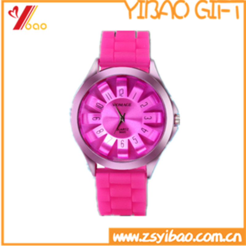 Custom Fashion Design Waterproof Silicone Watch (YB-AB-002)