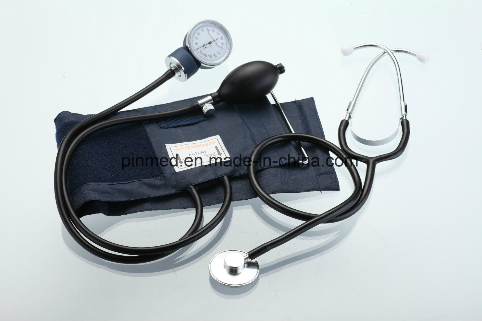 Standard Sphygmomanometer with Attached Single Head Stethoscope