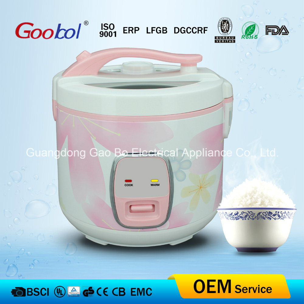 Pink Colour Dlexue Rice Cooker with Glass Window 700W