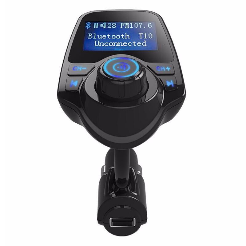 Bluetooth Car Handsfree Set FM Transmitter MP3 Player Wireless FM Modulator Car Kit LCD Display with USB Charging Port