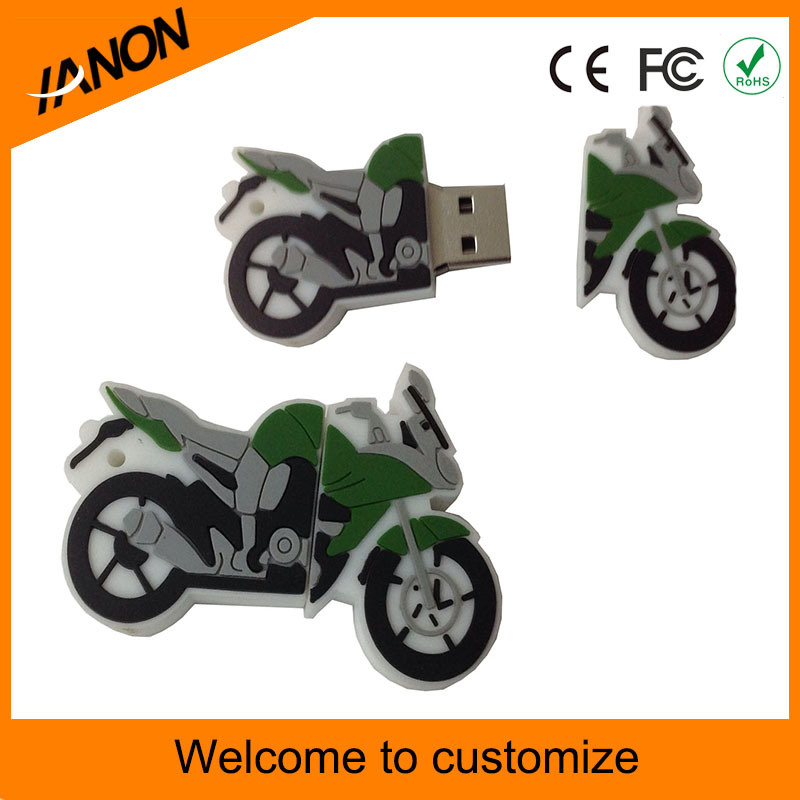 Customized PVC USB Flash Drive for Motorcycle