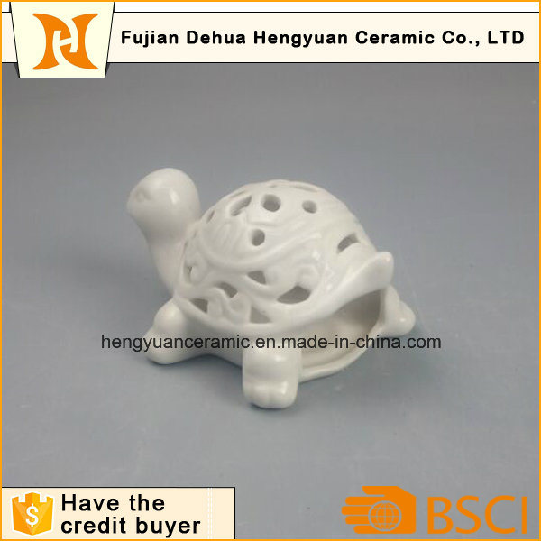 Whithe Porcelain Tortoise with Hollow Design
