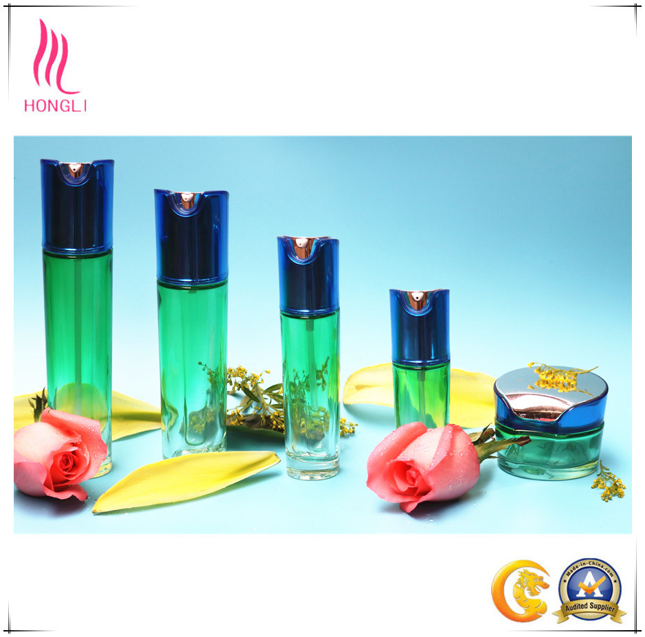 Aluminum Cover Glass Bottle Cosmetic