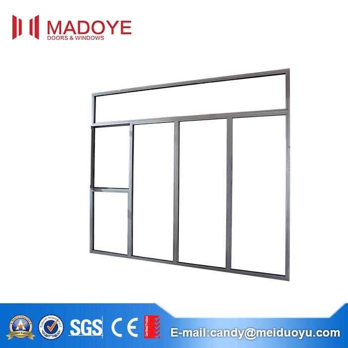 Various Specifications Aluminium Frame Flat Open Window