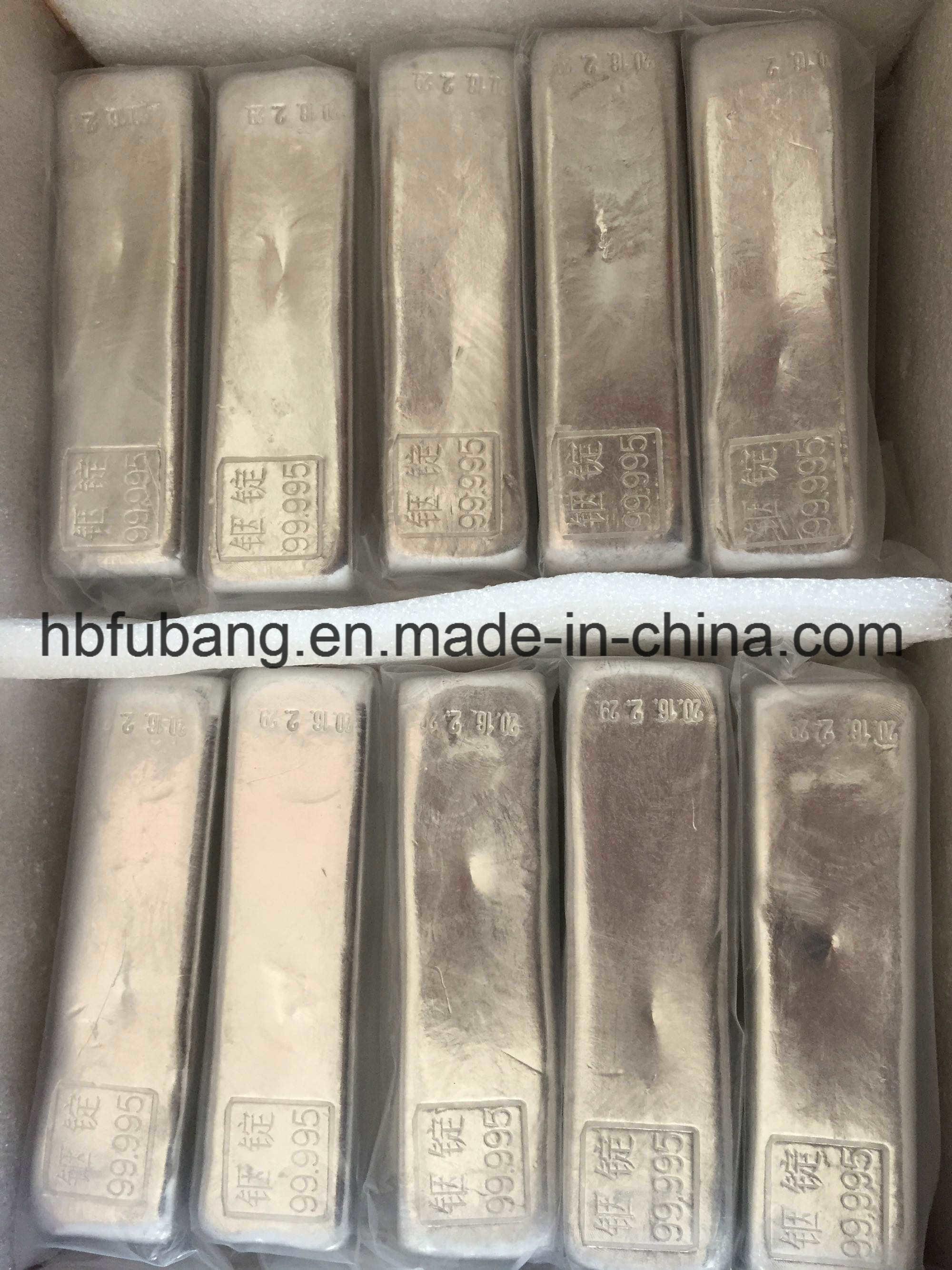 99.99% 99.999% Pure Indium Ingot, Most Competitive Indium Price