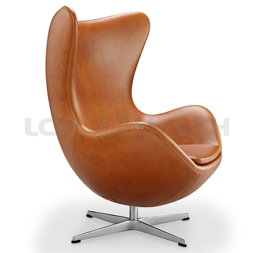 Italian Leisure Leather Egg Shape Chair